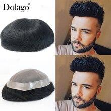 Тонкие моно 8x10 Toupees прочные шиньоны кружева тонкие ПУ заменить мужчин t система для мужчин Dolago натуральные волосы remy прямые человеческие волосы