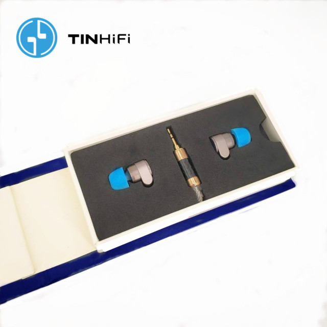 TINHIFI T2 2DD Double Dynamic Drive in Ear Earphone HiFi Bass DJ Metal headsets 3.5mm MMCX Cable Tin T1 T2 PRO T3 P1 24h ship 6