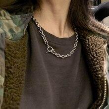 stainless steel necklace men chain choker vintage mens Punk man necklaces hip hop jewelry