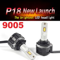 1 Set 9005 HB3 P18 Car LED Headlight High Power Super Bright 0.15MM Cutting Line Focus Beam Turbo Fan Fog Bulbs 104W 18000LM