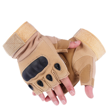 Tactical-Gloves Hard-Knuckle Combat-Shooting Military Police Fingerless Army Airsoft