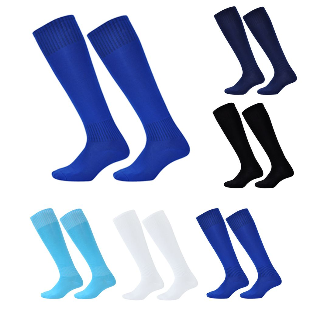 Kids Boys Solid Long Socks Sweat Over-knee Cotton Polyester Thin Football Socks Free Size Fall Winter Leg Warmers 23.5x44cm