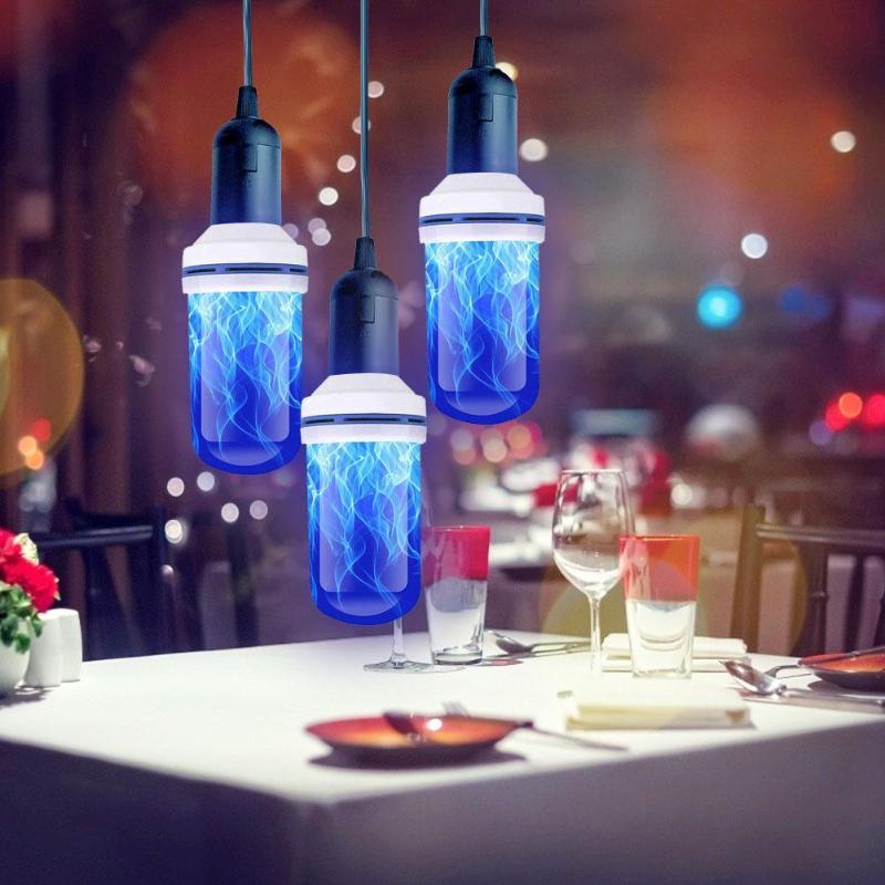 E27 99LED Flame Effect Fire Light Bulb Flickering Emulation Lamp Home Decoration