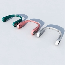 Mini Hand Free Neck Fan,Wearable USB Portable Lazy Neckband Hanging Sport Halter Fan Air Cooler for Outdoor Travel
