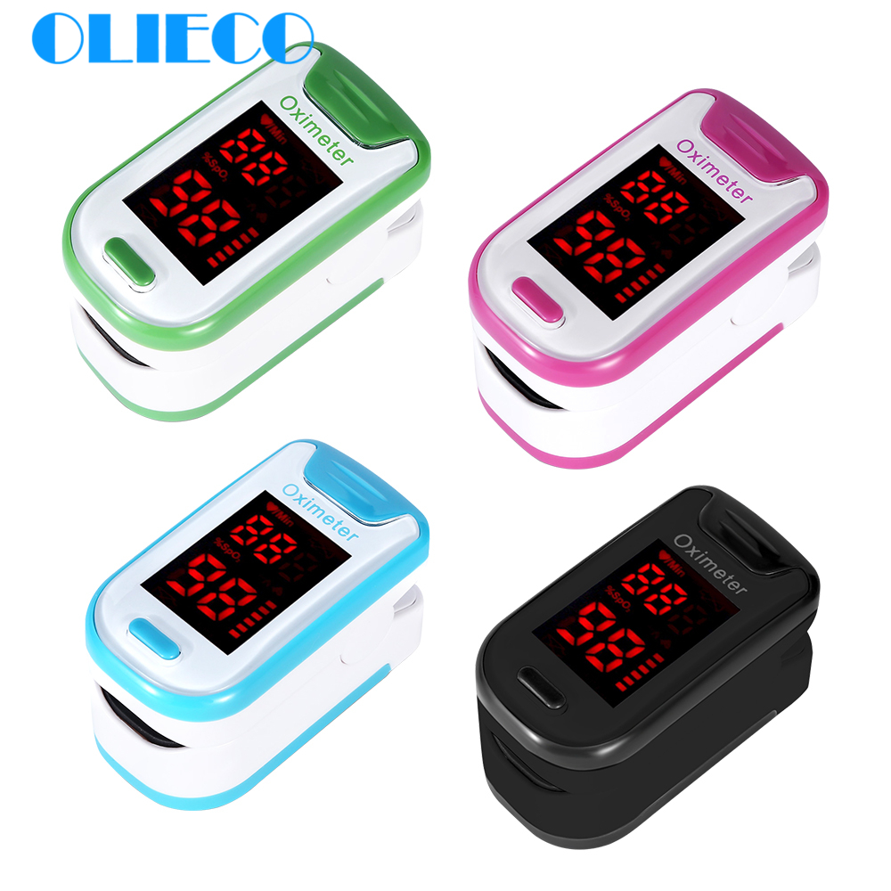 OLIECO Smart Finger Pulse Oximeter With Box Lanyard Portable Household Blood Oxygen Meter Heart Rate Monitor SPO2 PR Oximetro CE