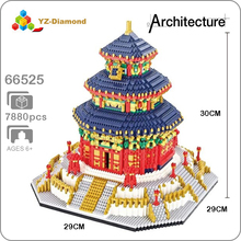 YZ World Famous Architecture China The Temple of Heaven 3D Mini DIY Diamond Building Small Blocks Bricks Toy for Children no Box
