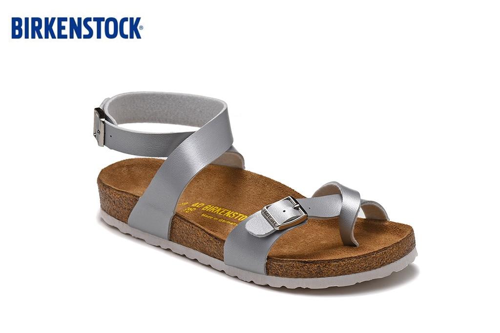 Birkenstock Zurich Athen Hot Sell Summer Women Flats Sandals Cork Slippers Unisex Casual Shoes Silver Matte Colors Size;35-43