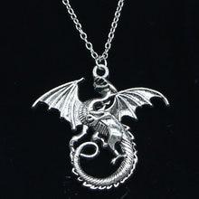New Fashion Necklace 43x46mm magical winged dragon mythology Pendants Short Long Women Men Colar Gift Jewelry Choker