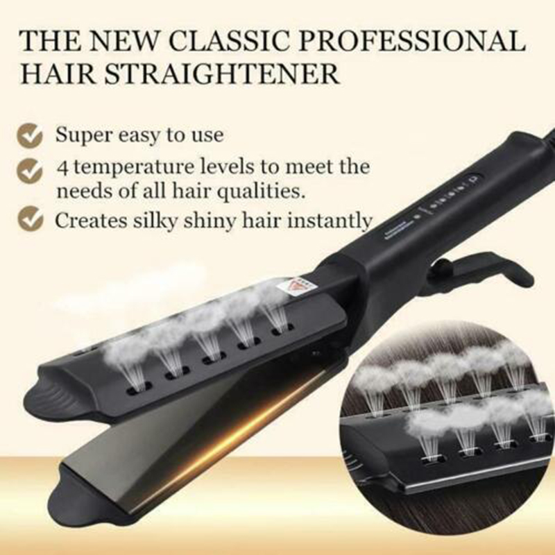 New Hair Straightener Four-gear Temperature Adjustment Ceramic Tourmaline Ionic Flat Iron Hair Straightener For Women