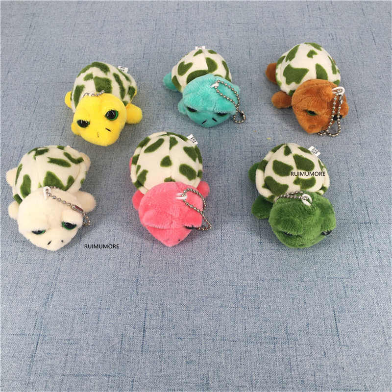 Küçük çok renkler, 4-6CM yakl. Hediye kaplumbağa hayvan peluş oyuncak, anahtarlık kaplumbağa dolması bebek