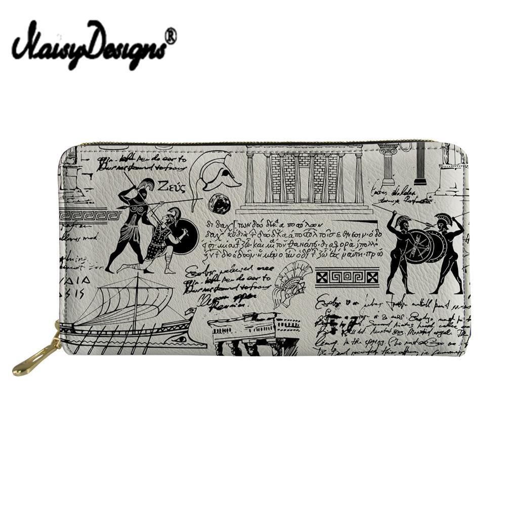 NOISYDESIGNS – portefeuille Vintage en cuir pour femme, porte-cartes, pochette, porte-monnaie