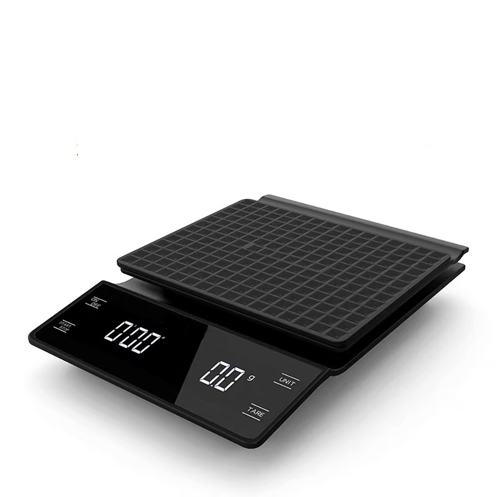 Electronic Coffee Scale Hand Versatile Bar Electronic Scale Gram Scale With Timer 3KG Kitchen Scale  LED Display  Food Scale