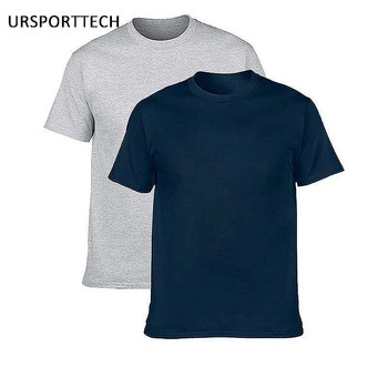 Buy One Get One 100% Cotton Men T-shirts Classical O-neck Short Sleeve Shirt Solid Color Loose Basic Tshirt Casual Mens T shirt twenty one pilots cool pattern print casual mens o neck harajuku t shirts and fashion men s basic short sleeve t shirt