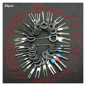 Image 1 - 36/26/18pcs Car Pin Extractor Terminal Removal Tool Set Electrical Wiring Crimp Connector RemoverHand Tool Kit Dropshipping