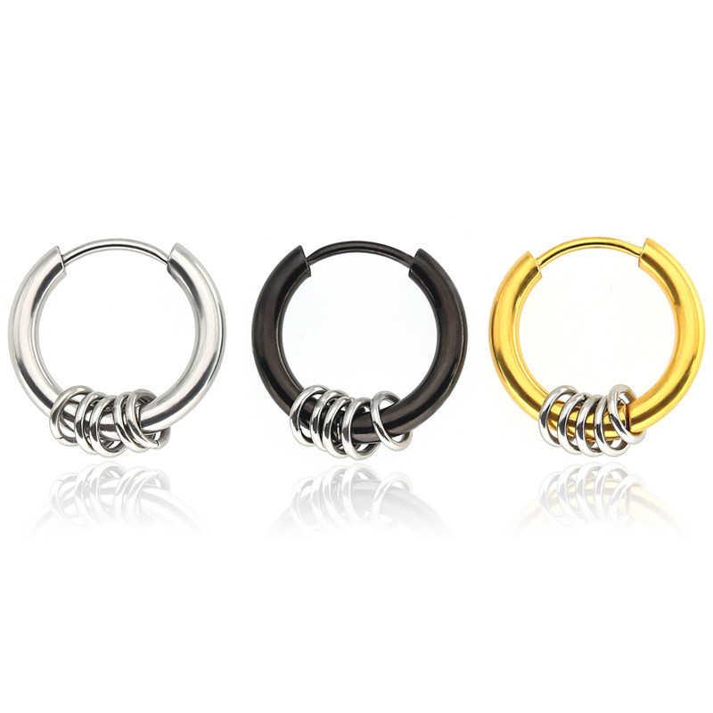 1 pc Piercing stadniny kolczyki ze stali nierdzewnej koło wisiorek dla kobiety mężczyźni nowy projekt Unisex Punk fajne ucha biżuteria prezenty