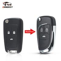 Dandkey-carcasa de llave de coche modificada, carcasa Fob para Chevrolet Cruze Epica Lova Camaro Impala para Buick HU100 Blade, 2, 3, 4, 5 botones