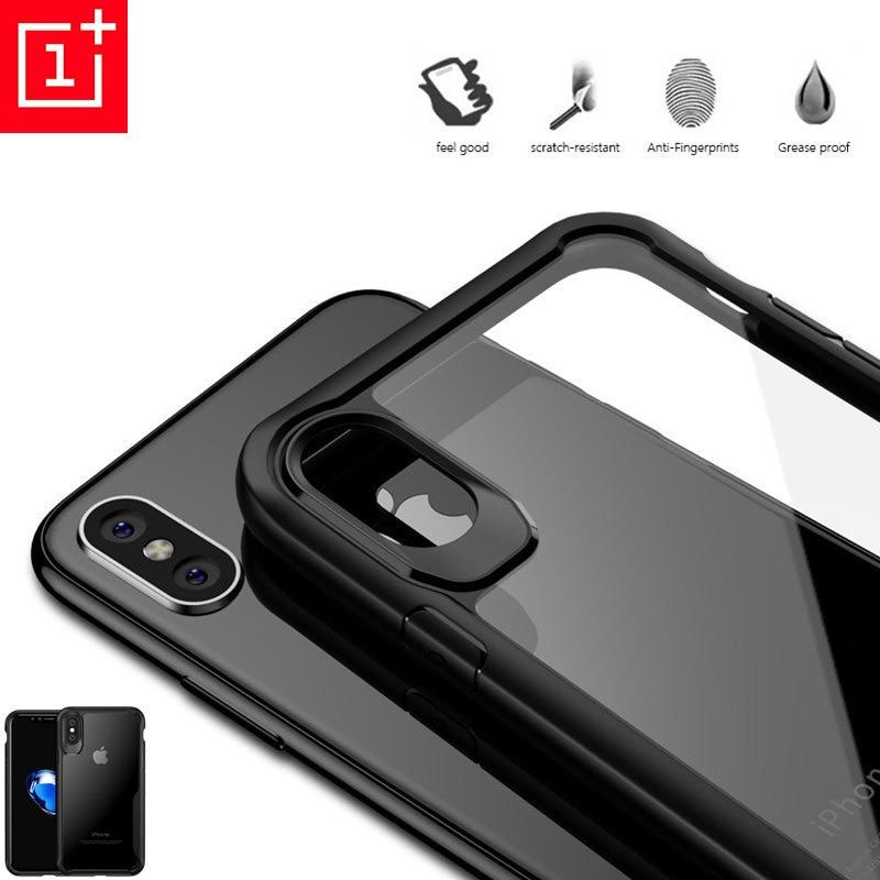 Original for Oneplus 7 pro case Transparent anti-fall oneplus 5 5t 6 6t 7pro  Luxury Silicone Case OnePlus