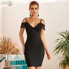 Женское вечернее платье adyce черное облегающее с открытыми