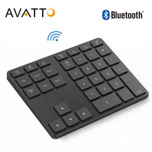 Avatto Aluminium 35 Toetsen Bluetooth Wireless Numeriek Toetsenbord, Digitale Toetsenbord Voor Windows, Ios, Mac Os, android Tablet Pc Laptop(China)