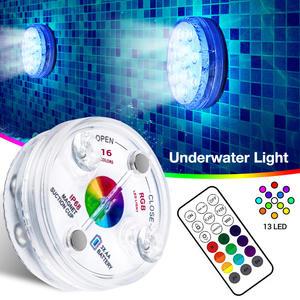 Swimming-Pool-Lamp Fountains Underwater-Light Led Submersible Fish-Tanks Remote Ip68 Waterproof
