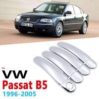 Chromowane uchwyty obejmuje dla Volkswagen VW Passat B5 B5.5 1996 ~ 2005 akcesoria naklejki Car Styling 1997 1998 1999 2000 2001 2002 w Naklejki samochodowe od Samochody i motocykle na