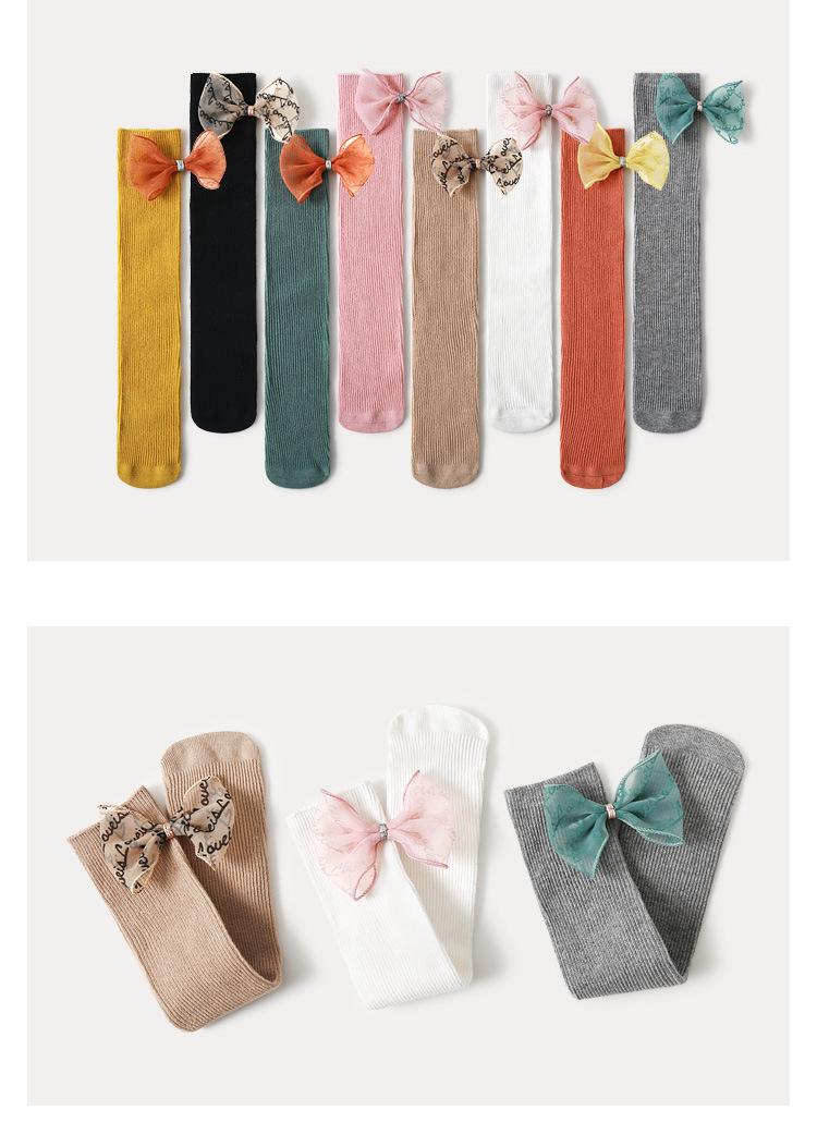 Носки для маленьких девочек Гольфы принцессы с бантиками милые