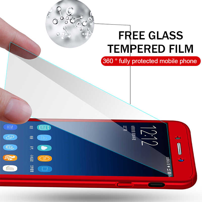 360 Degree Full Cover Phone Cases For Samsung Galaxy A3 A5 J1 J3 J5 J7 J2 Prime 2016 2017 A7 A6 A8 J4 J6 Plus 2018 With Glass