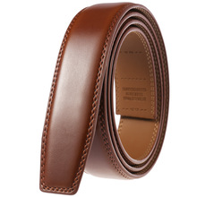 3.5 cm Belt No Buckle Cow Genuine Leather Belt Body for Automatic Buckle High Quality Black Brown Belts Without Buckle Cowskin