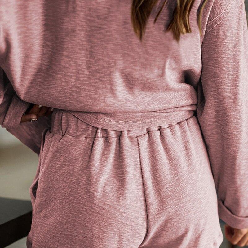 2020 New loungewear women pajama set summer breathable nightgown sleepwear indoor long sleeve sleep tops two pieces pijama mujer (20)