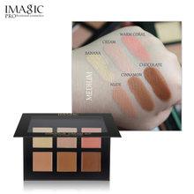 IMAGIC marka korektor krem konturowy paleta do makijażu Pro makijaż Palatte 6 kolorów korektor fundacja krem baza do twarzy dla wszystkich skóry