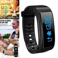 Reloj inteligente deportivo 2 en 1, con Bluetooth y auriculares, control del ritmo cardíaco