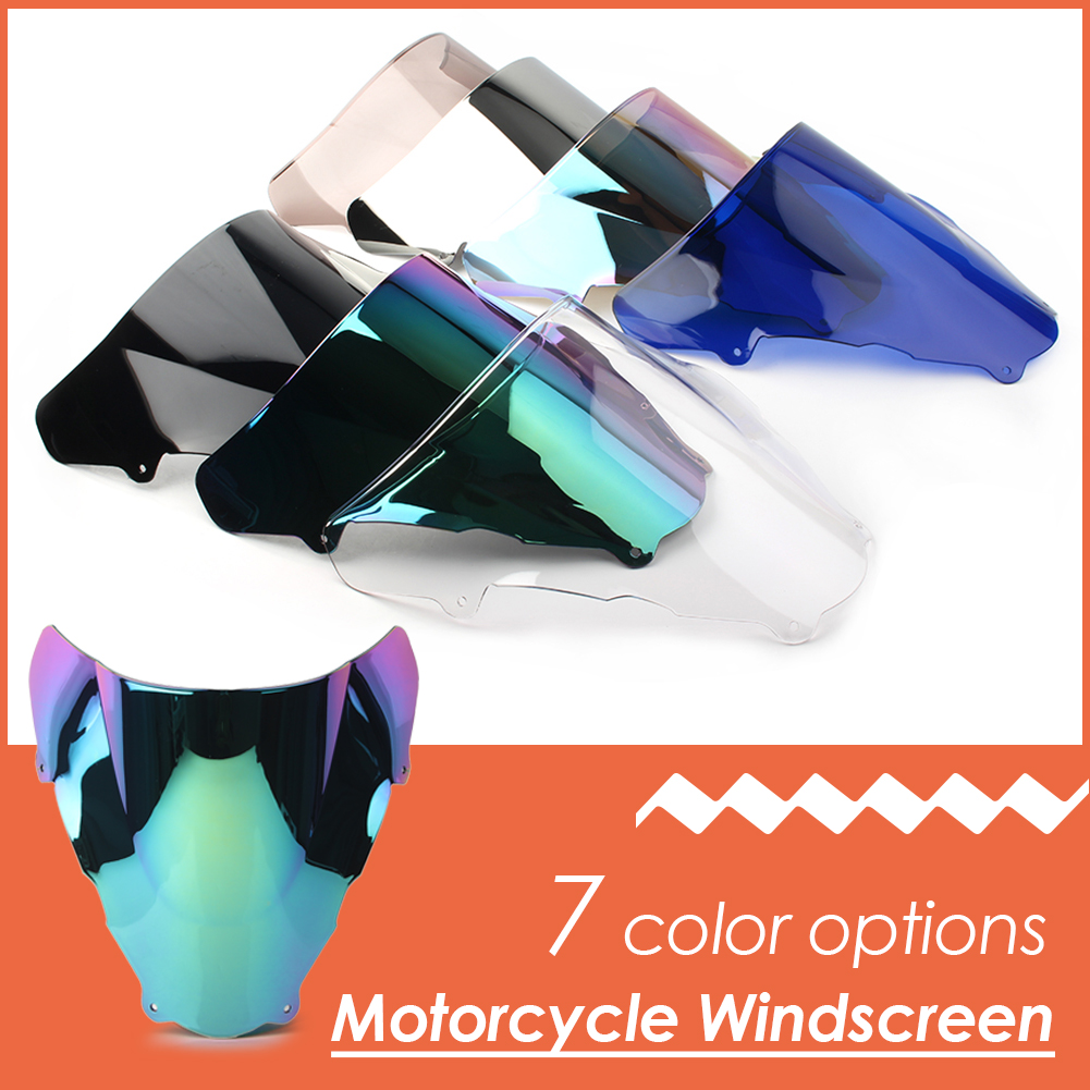 SV650 Motorcycle Double Bubble Windshield Windscreen For SUZUKI SV650S SV 650 S 1999 2000 2001 2002 ABS Plastic