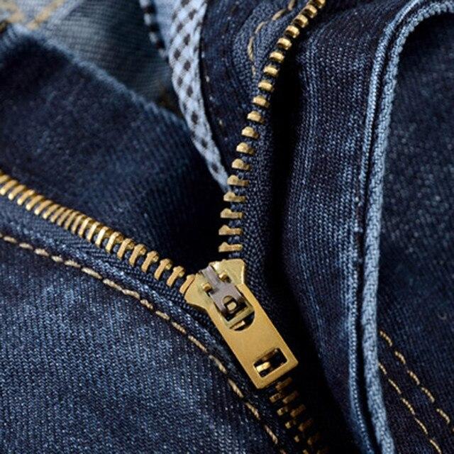 Men Denim Jeans Casual Autumn Winter Cotton Hip Hop Pants Male Loose Work Long Trousers Men Jeans Pants Slim Fit Denim 5