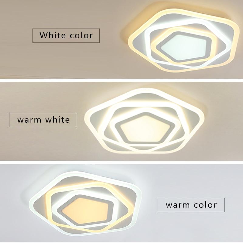 Remoto escurecimento plafon moderno conduziu a lâmpada do teto luminária de jantar sala estar quarto luzes lustre lamparas kids' lustres quarto