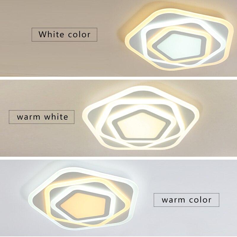 Uzaktan karartma Modern plafon LED tavan lamba aksesuarı yemek oturma odası yatak odası ışıkları parlaklık Lamparas çocuk odası avizeler