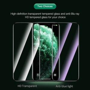 Image 3 - Hoco capa completa de vidro temperado para iphone 11 pro max xs max protetor de tela 3d de proteção para iphone xr x caso protetor