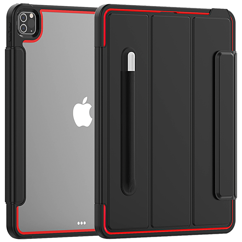 Red Red Full Protection Case For apple iPad Pro 12 9 2020 Kids Safe Shockproof Heavy Duty TPU