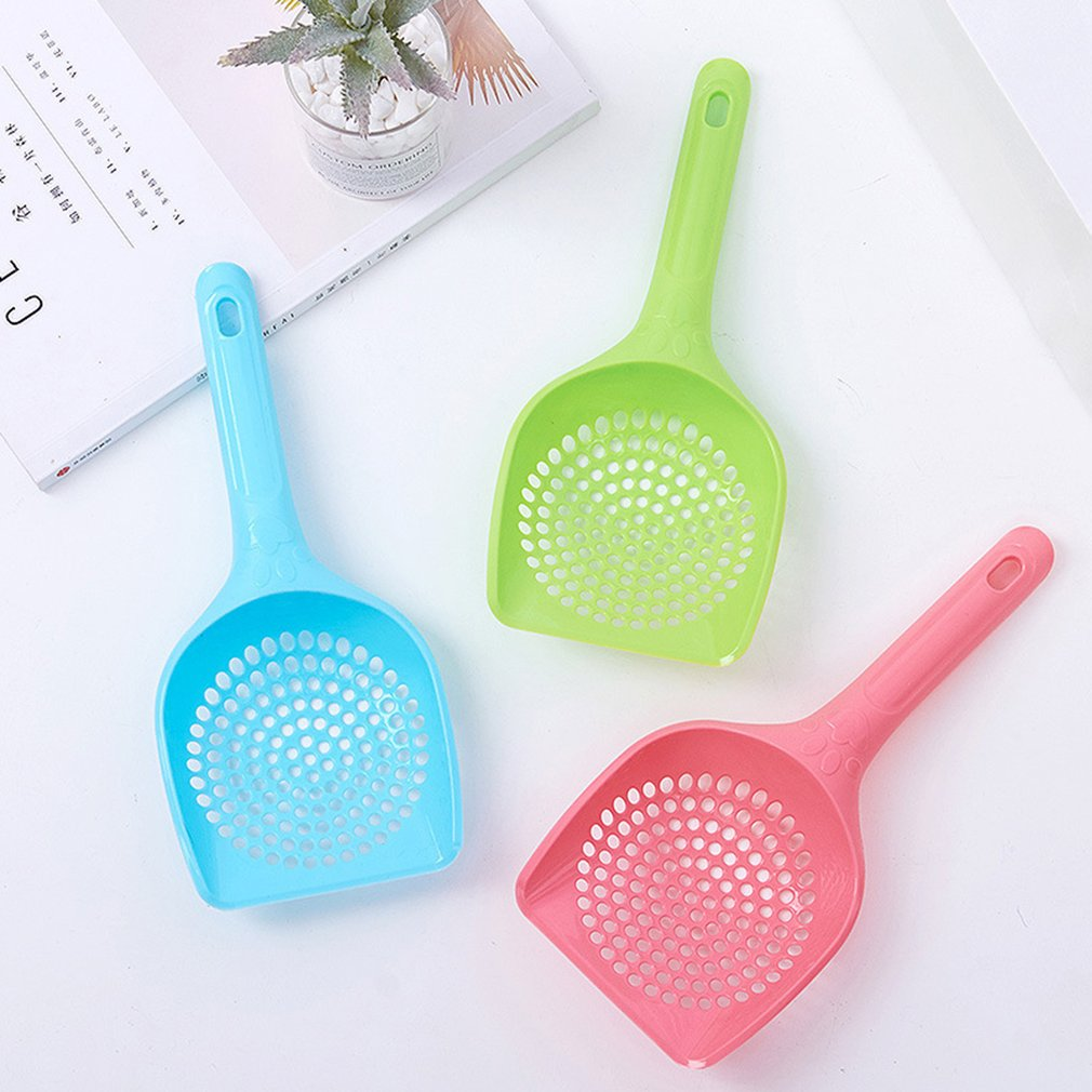Kitten Sand Waste Scooper Shovel Hollow Out Plastic Litter Scoop Clean Tool For Pet Dog Cat Scoop Pet Supplies