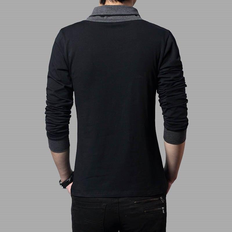 Image 5 - TFETTERS Brand Autumn Fashion Men T shirt T Shirt Men Patchwork V Neck Long Sleeve Slim Fit T Shirt Cotton Plus Size 4XLt-shirt cottonmen t-shirtt-shirt men -
