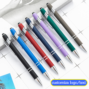 Coloful Multifunction Ballpoint Pen Business Writing Signing Touch Pens Office Stationery Supplies Wholesale Customized Gift