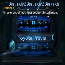 1 din 9 rich/2 rich ultrathin/2 7 toyota previa android car radio Multimedia Player stereo player Navigation