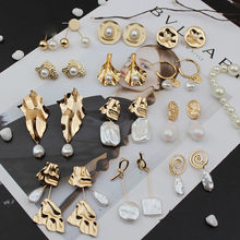 SOHOT düzensiz geometrik asimetri kadınlar bırak küpe yüksek kaliteli barok Charm kadın mücevheratı Brincos