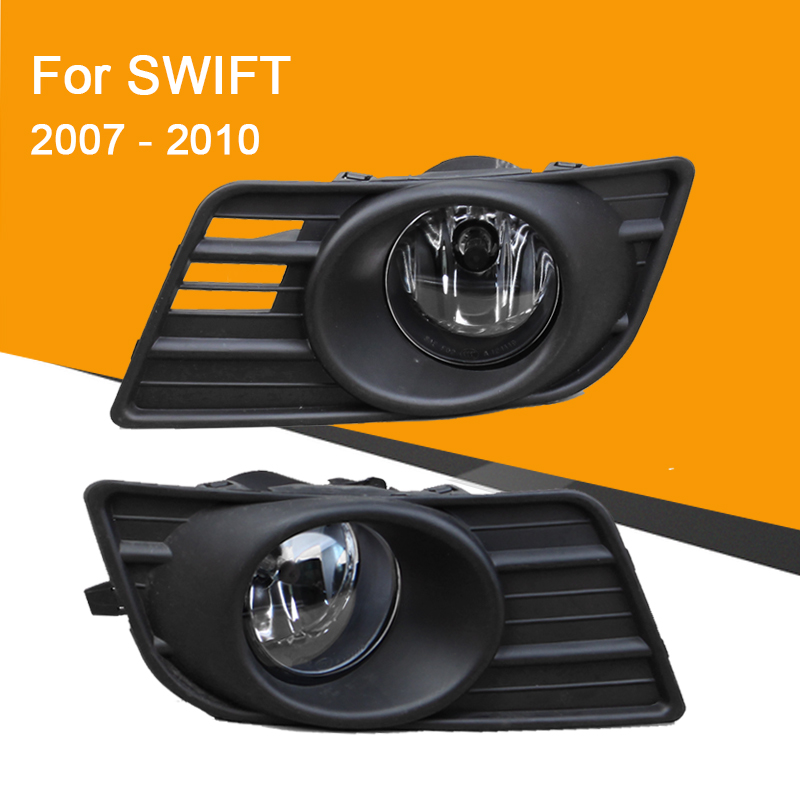 Fog Lamp Assembly For Swift 2007 - 2010 Front Bumper Fog Light With Switch Wire Harness Cover Fog Lamp Kit