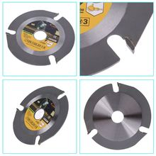Woodworking Blade for Angle Grinder Disc Wood Carving Cutting Shaping with 3 Teeth 7/8 Arbor 5 Inch 125mm