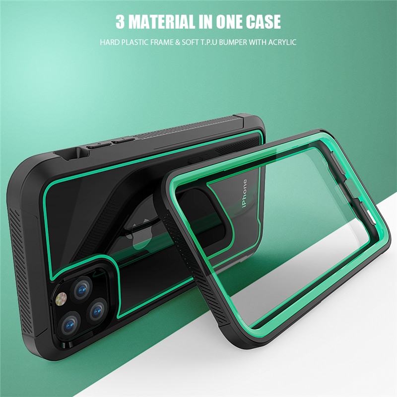 H667dd36b555746088e28f76d9e91ddb8j Shockproof Armor New Phone Case For iPhone 11 Transparent hybrid TPU Cover For iPhone XR XS MAX 11 Pro Max XS 8 7Plus Clear Case
