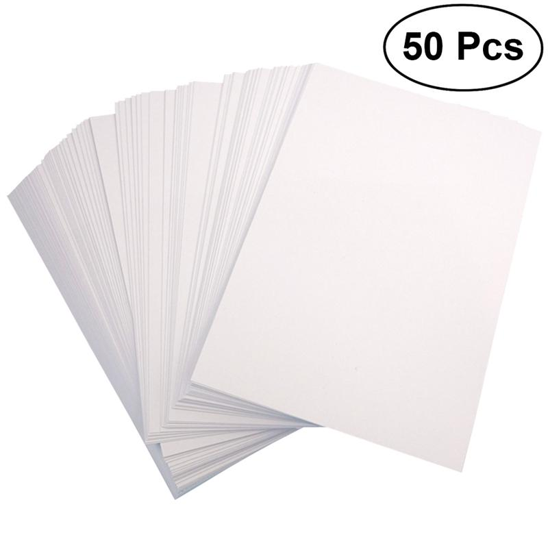 50Pcs Photo Paper Double-side 120G Coated A4 High Glossy Picture Printing Paper for Office Photo Shop Home Printers image