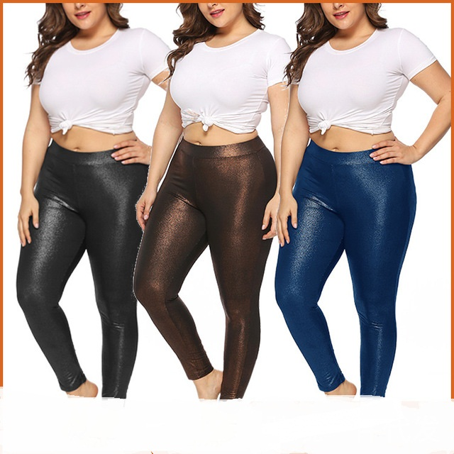 new gold glitter club bottoming tight sports plus size casual women pants