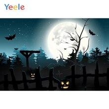 Yeele Halloween Moon Horror Fence PumPkin Lantern Photography Backdrops Personalized Photographic Backgrounds For Photo Studio