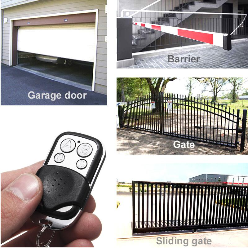 1PCS Only Universal 4-Channel 433//315 MHz Gate Garage Door Cloning Remote NEW