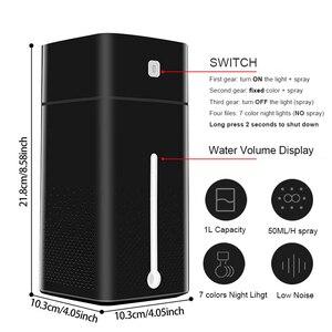 Image 5 - Humidificateur dair à ultrasons diffuseur muet 7 couleur veilleuse 1000ML Mini aromathérapie diffuseurs Cool brumisateur fabricant maison purificateur